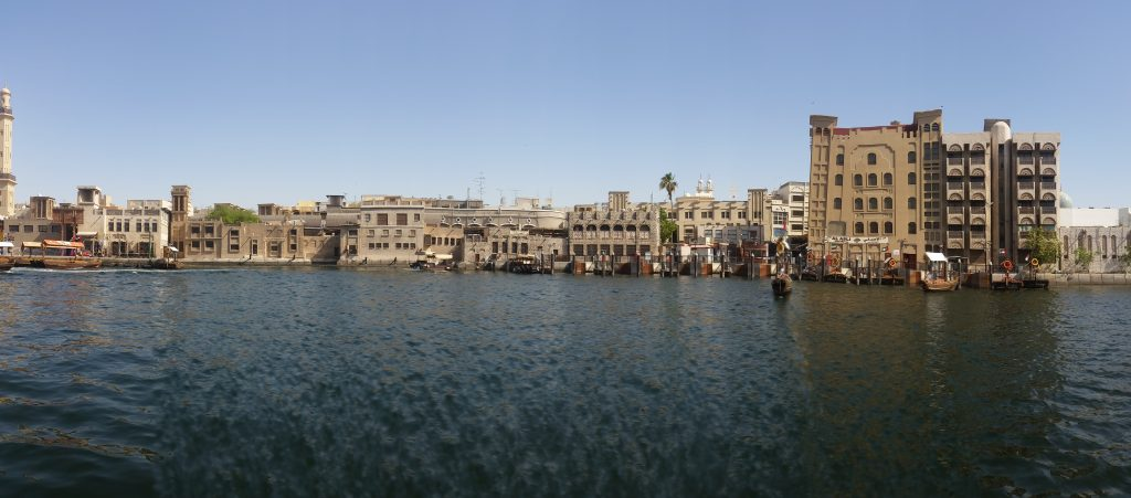 Dubai Old Town view from the creek