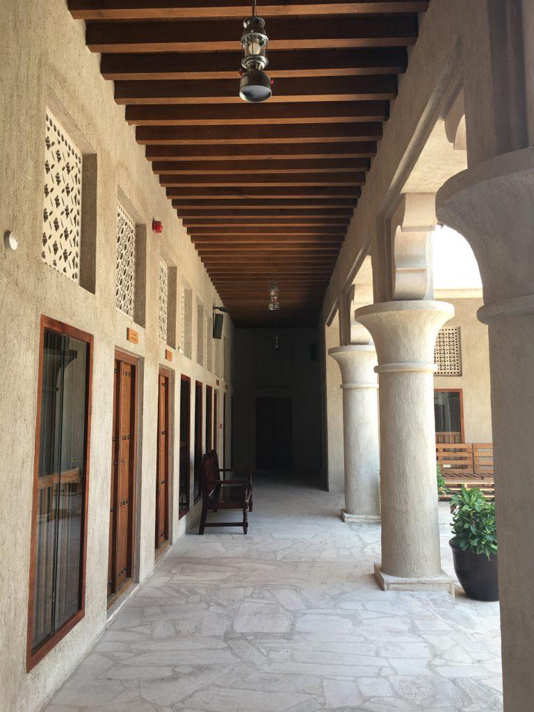 Dubai Old Town museum walkway
