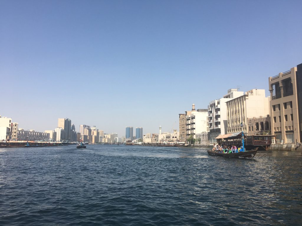 Dubai Old Town water taxi to the markets