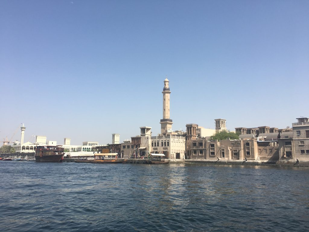 Dubai Old Town view from the water