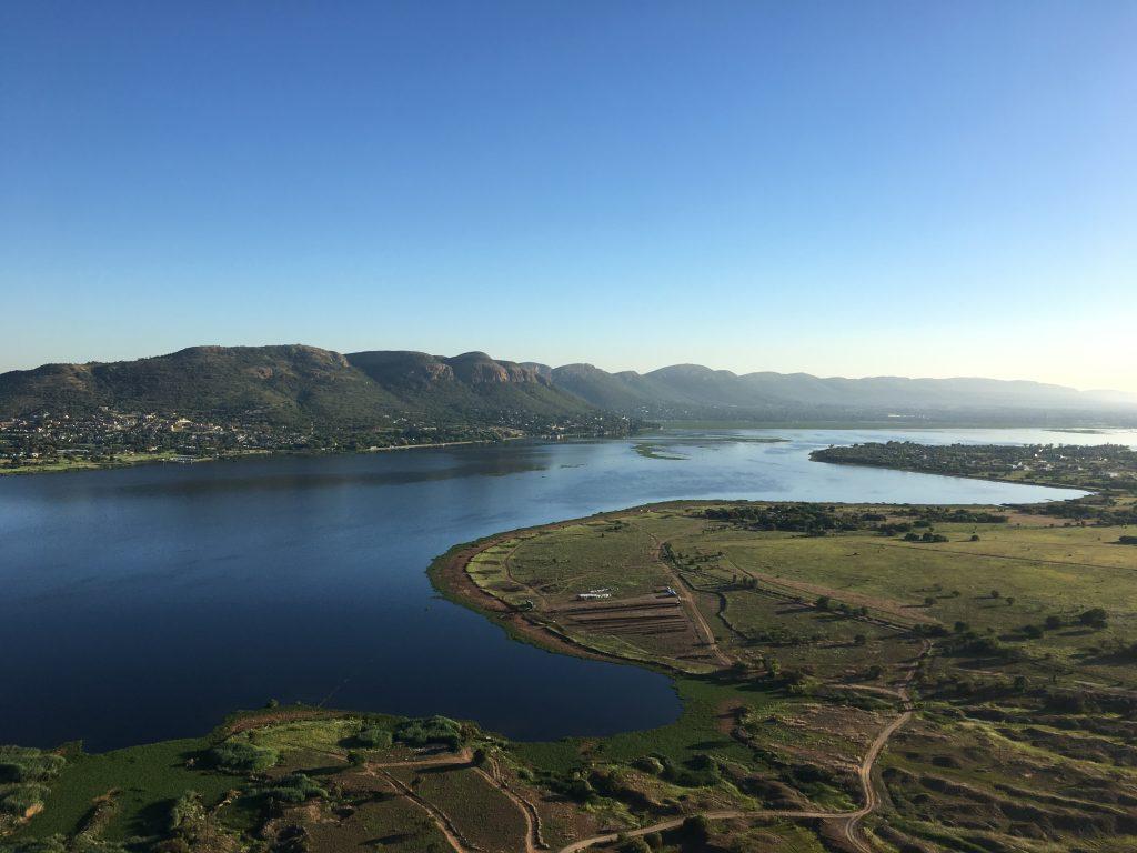 Paratrike over Hartbeespoort dam