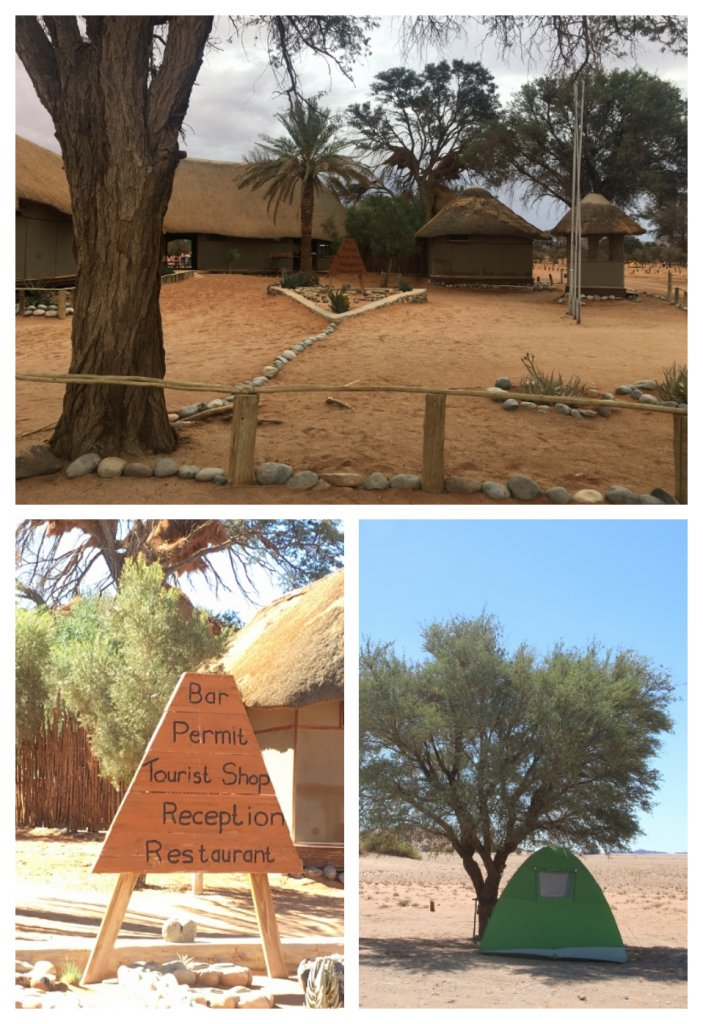 Sesriem Entrance and Campsite