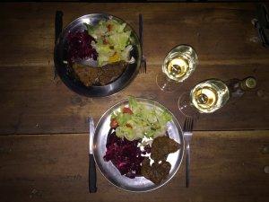 Self prepared dinner