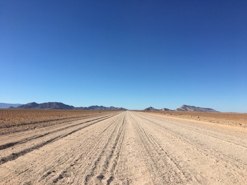 Typical Gravel road Namibia