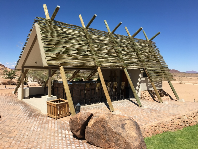 Outdoor Bar at Desert Quiver Camp