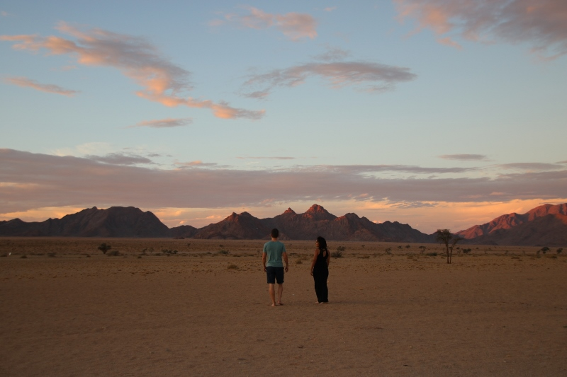 Sunset Strolls at Desert Quiver Camp