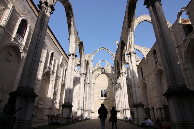 Carmo abbey ruins Lisbon