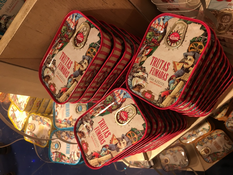 Portugese canned fish in Lisbon