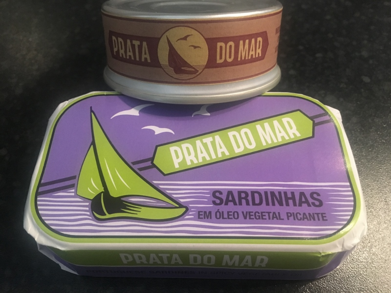 Canned Food: Portugese colourful canned Sardines packaging