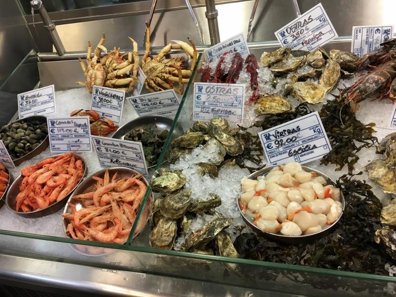 Lisbon fresh seafood