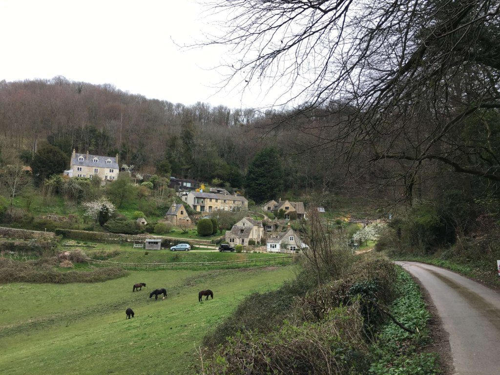 View across Elcombe hamlet