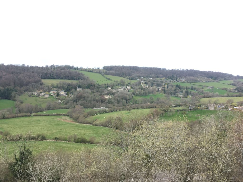 Valleys and hills in the Cotswolds